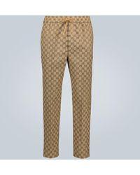 Gucci Jacquard-Hose aus Baumwolle - Natur