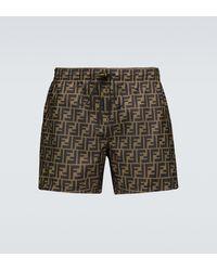 Fendi Ff Swim Shorts - Brown