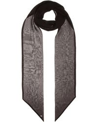 Saint Laurent Tuch aus Seide - Schwarz