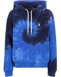 Polo Ralph Lauren Sudadera de algodón con capucha - Azul