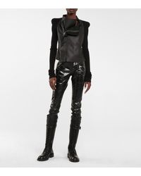 Ann Demeulemeester Lace-up Leather Knee-high Boots - Black