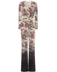 Etro Jumpsuit a stampa in seta - Multicolore