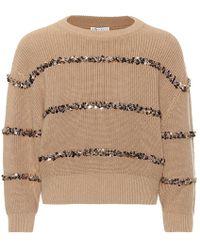 Brunello Cucinelli - Pullover Dazzling Stripes in cotone - Lyst