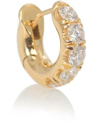Spinelli Kilcollin Arete solitario Mini Micro Pavé de oro amarillo de 18 ct con diamantes - Metálico