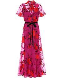 Erdem Celestina Floral Silk-organza Gown - Red