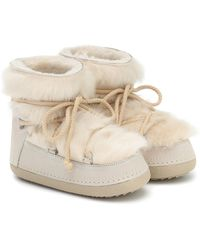 Inuikii Toskana Shearling And Suede Boots - White