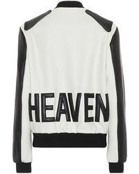 Saint Laurent Giacca varsity Heaven in lana e pelle - Nero