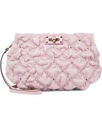 Valentino Garavani Clutch SpikeMe Medium aus Leder - Pink