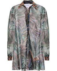 Halpern Robe chemise imprimée - Multicolore