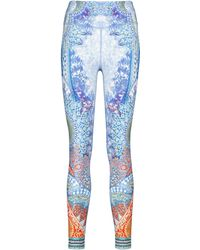 Camilla Printed Stretch-jersey leggings - Blue