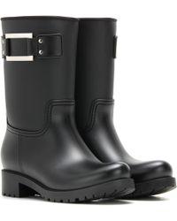 Roger Vivier Embellished Rubber Boots - Black
