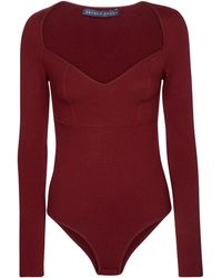 Zeynep Arcay Stretch-knit Bodysuit - Red