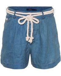 Polo Ralph Lauren - Chambray Linen Shorts - Lyst