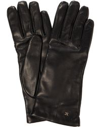 Max Mara Leather Gloves - Black
