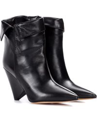 Isabel Marant - Luliana Leather Ankle Boots - Lyst