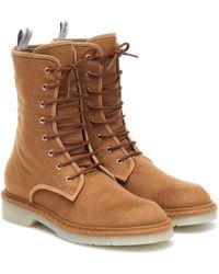 Max Mara Baker Wool-felt Combat Boots - Brown