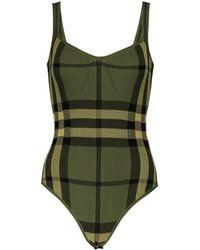 Burberry Body en coton mélangé à carreaux - Vert