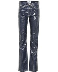 Eytys Pantaloni Cypress coated - Blu