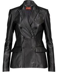 Altuzarra Leather Blazer - Black