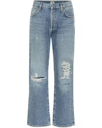 Citizens of Humanity - High-Rise Cropped Jeans Emery - Lyst