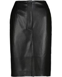 Nanushka Regan Faux Leather Pencil Skirt - Black