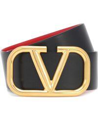 Valentino Reversible Vlogo Leather Belt - Multicolour