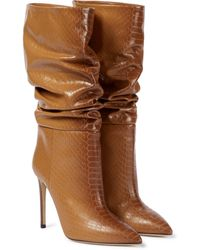 Paris Texas Stiefel aus Leder - Braun