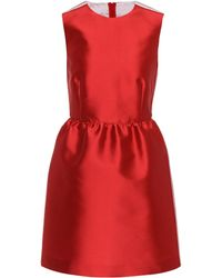 RED Valentino – Robe en satin - Rouge