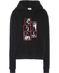 Saint Laurent Everything Now Print Hoodie - Black