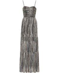 Rebecca Vallance Metallic Evening Dress