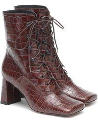 BY FAR Ankle Boots Claude aus Leder - Braun