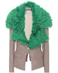 Preen By Thornton Bregazzi - Otis Wool-blend Jacket - Lyst