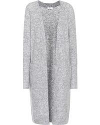 Acne Studios Raya Mohair And Wool-blend Cardigan - Grey