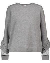RED Valentino Cotton-blend Sweatshirt - Grey