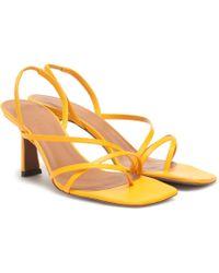 Neous Exclusive To Mytheresa – Esmeralda Leather Sandals - Yellow