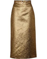 Valentino Falda larga V GOLD de tiro alto - Metálico