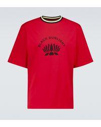 Wales Bonner T-Shirt Sunlight aus Baumwolle - Rot