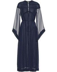 ALEXACHUNG Polka-dot Dress - Blue