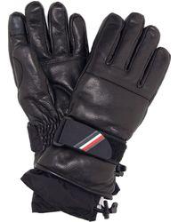 Moncler Grenoble - Leather Gloves - Lyst