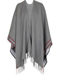 Alexander McQueen Poncho de lana y cachemir - Gris