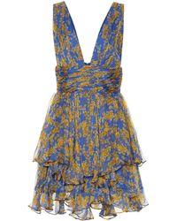 Caroline Constas Bedrucktes Minikleid Paros aus Seide - Blau