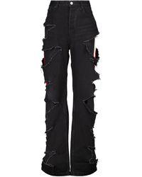 Balenciaga High-Rise Distressed Jeans - Schwarz