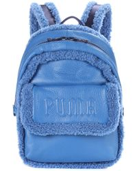 PUMA - Sherpa-trimmed Leather Backpack - Lyst