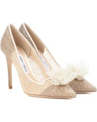 Jimmy Choo - Estelle 100 Lace Court Shoes - Lyst