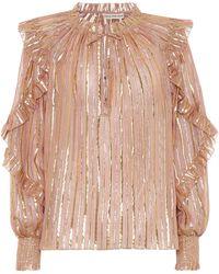 Ulla Johnson Lucinda Silk-blend Blouse - Pink