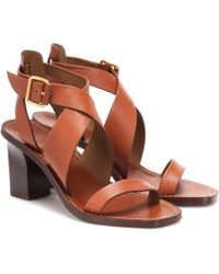 Chloé Virginia Leather Sandals - Brown