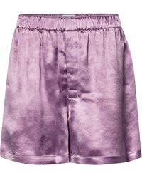 Bottega Veneta Cupro Track Shorts - Purple