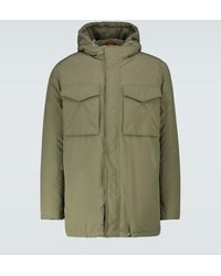 Brunello Cucinelli Technical Fabric Parka - Green