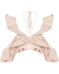 Zimmermann - Striped Linen Top - Lyst