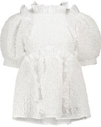 Cecilie Bahnsen Blusa Capri de algodón - Blanco